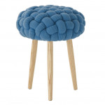 KNITTED STOOL AZUL